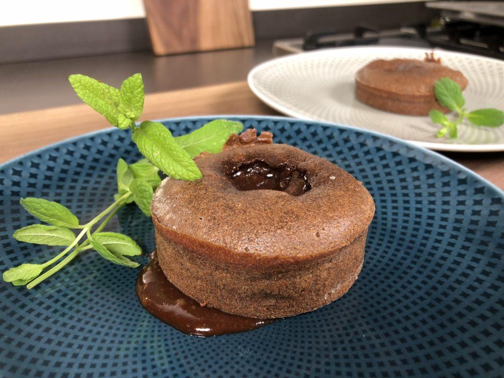 Schokoladentörtchen mit flüssigem Kern